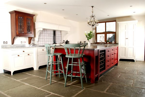 Bespoke Ivory & Red Island Country Farmhouse Kitchen installation | McGowan Brooks | Northern Ireland & Republic of Ireland