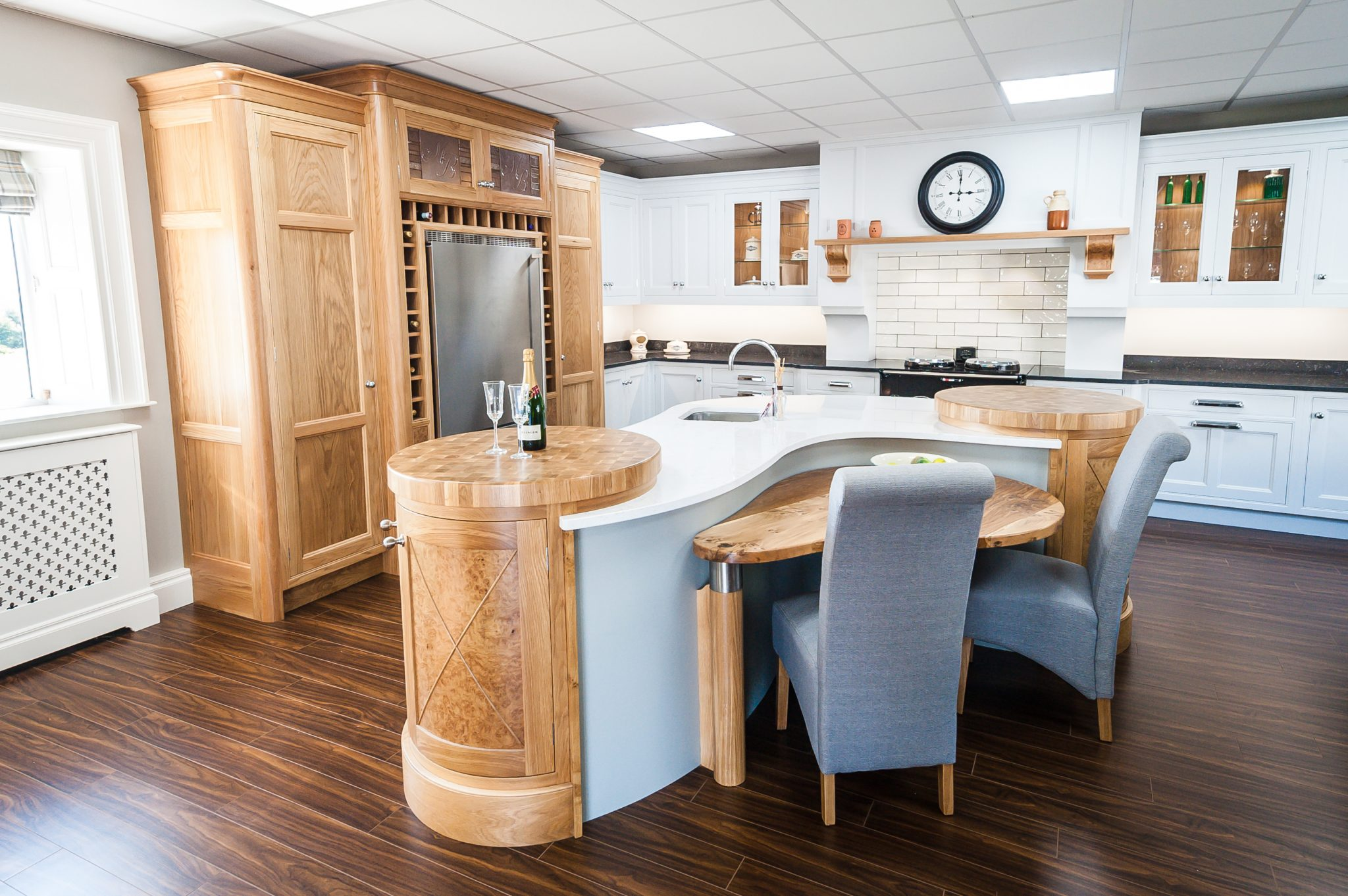 Luxury White & Pine Oak Kitchen design | McGowan Brooks | Northern Ireland & Republic of Ireland